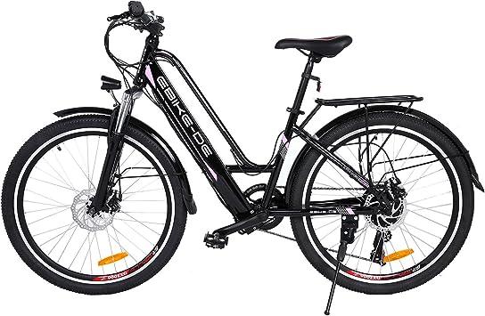Ancheer Bicicleta Eléctrica de 26 Pulgadas Pedelec, Bicicleta ...