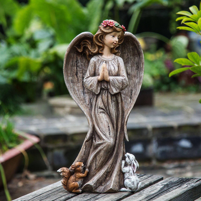 Ivy Home Angel Décor Blessing Resin Garden Statuary