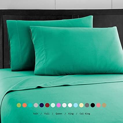 Prime Bedding Bed Sheets   4 Piece Full Size Sheets, Deep Pocket Fitted  Sheet,
