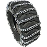 TireChain.com 7.2-24, 9.5-24, 12.5/80-18 Tractor Tire Chains Set of 2