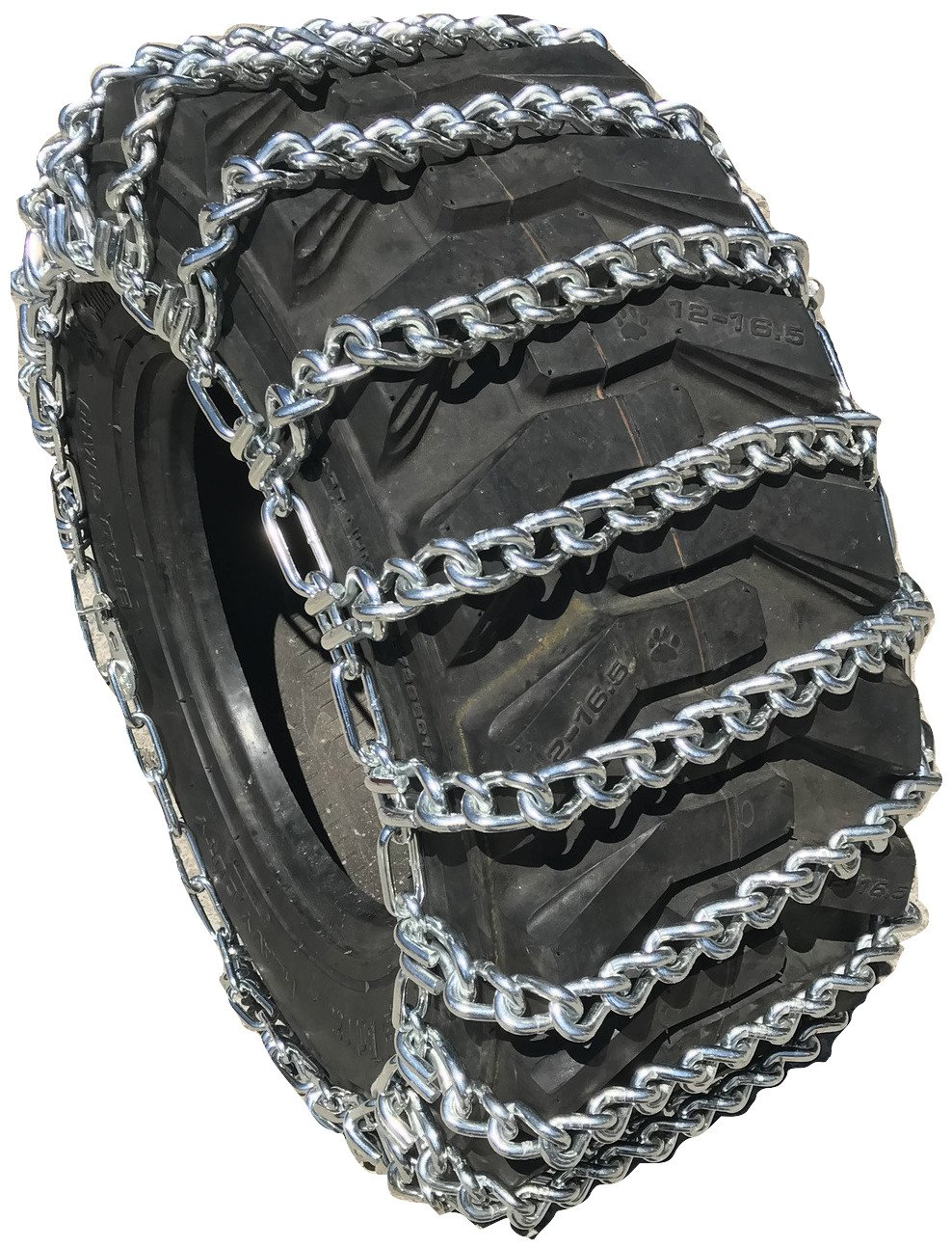 TireChain.com 15 19.5 15-19.5 Tractor Tire Chains Set of 2