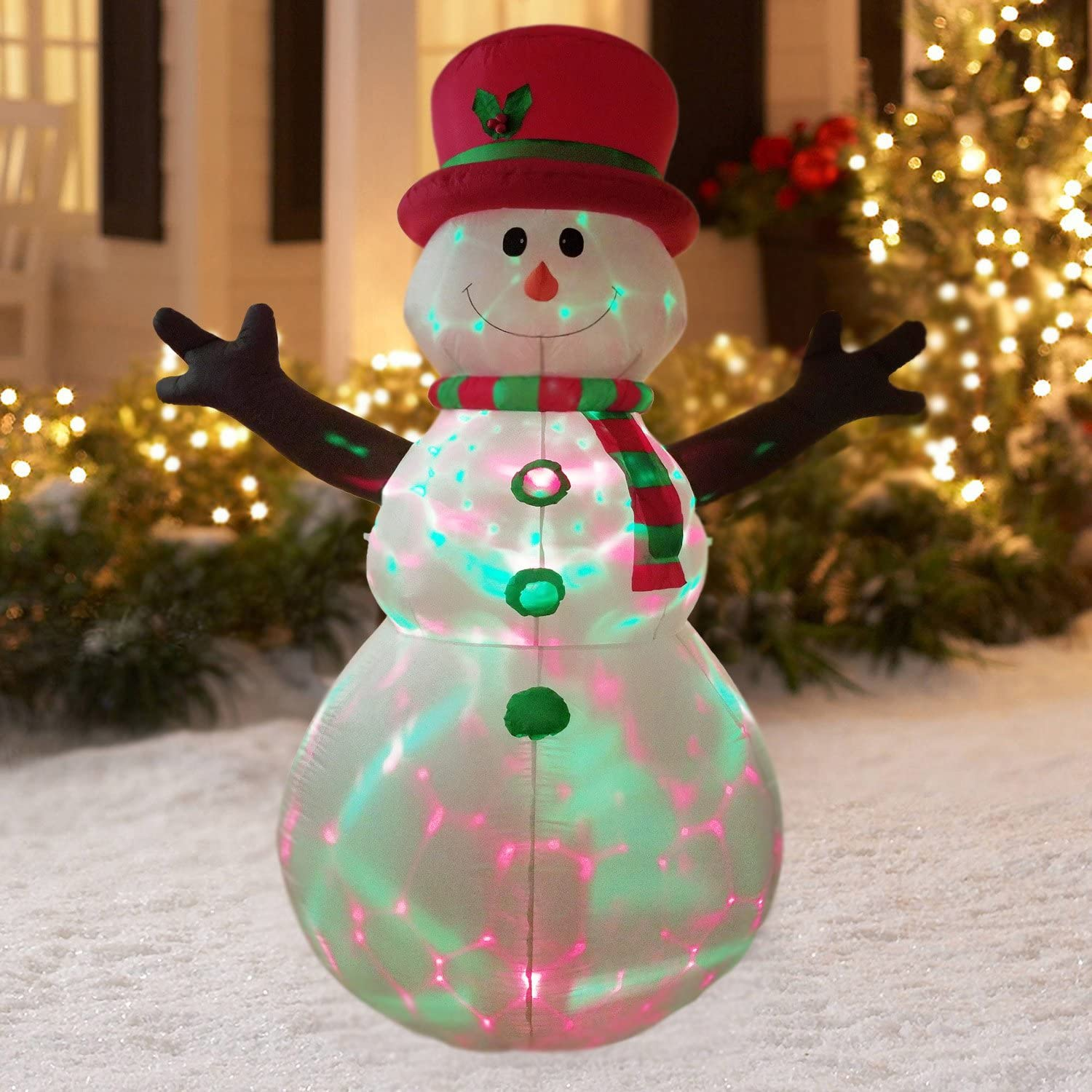 Snowman is great outdoor Christmas decoration idea