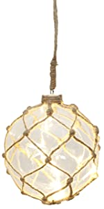 """Star""""Noè"""" palla di vetro con 8 luci a LED con semplice filato netto, cavo trasparente, diametro 14 cm, quattro colori cartone 457-40"""