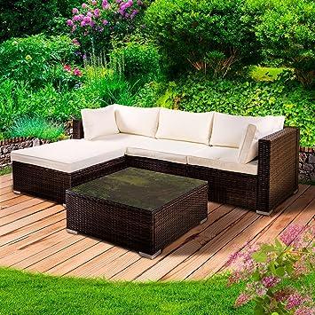 Amazonde Poly Rattan Lounge Setroyal Braun Gartenmöbel