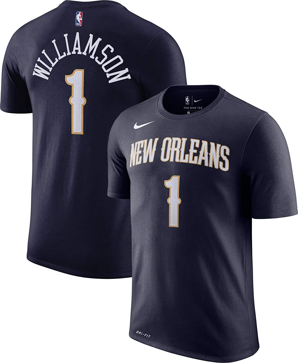 Nike Zion Williamson New Orleans Pelicans NBA Kids 4-7 Navy Icon Edition Player Name /& Number T-Shirt