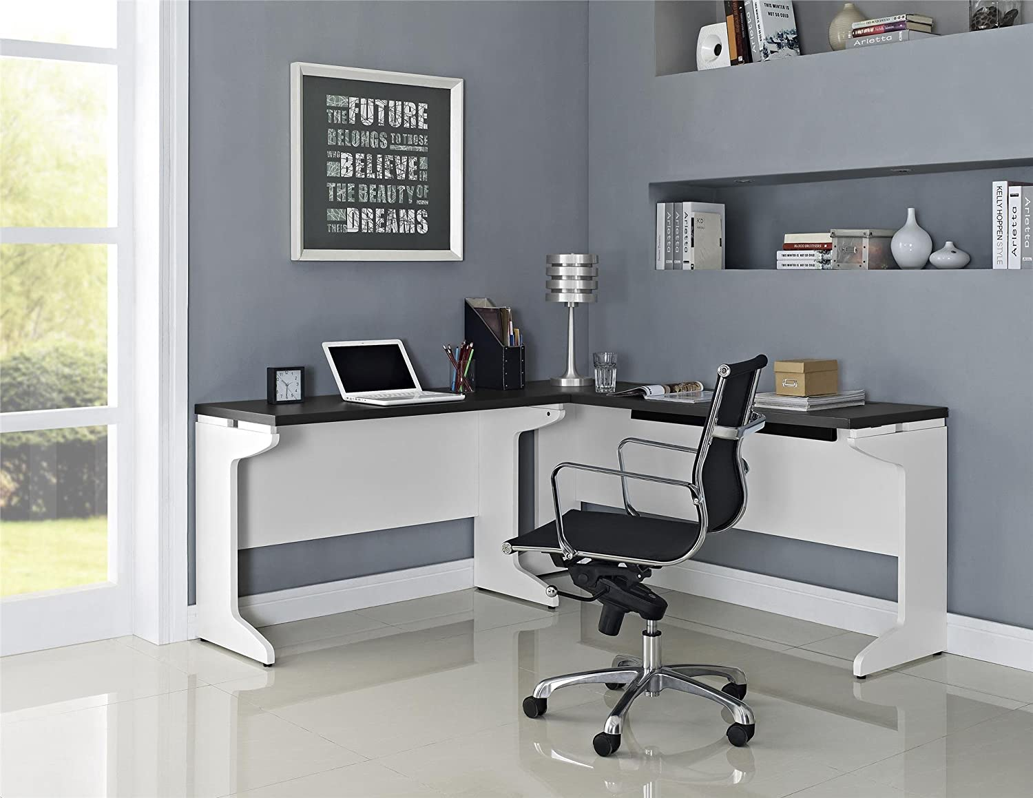 white luxury l desk awesome of tactical inspirational shaped ikea u being minimalist