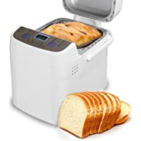LATITOP Programmable Bread Machine with Removable Non-stick Pan- 1.5-Pound Loaf, All Kinds of Breads, 15-Hour Delay Time, Gluten-free Setting, 2 Loaf Sizes, 3 Crust Colors, Automatic keep warm 1 hour