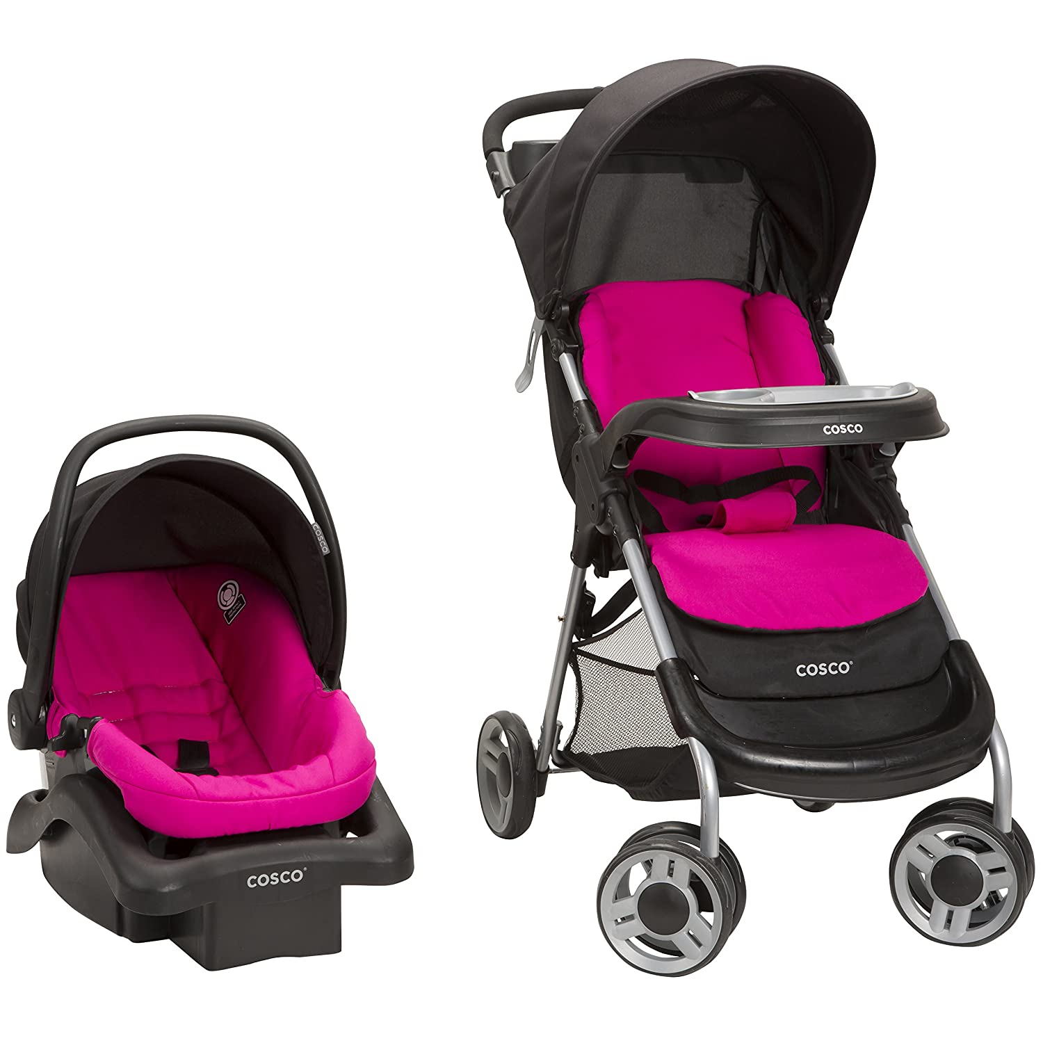 Cosco Lift and Stroll Plus Travel System Very Berry
