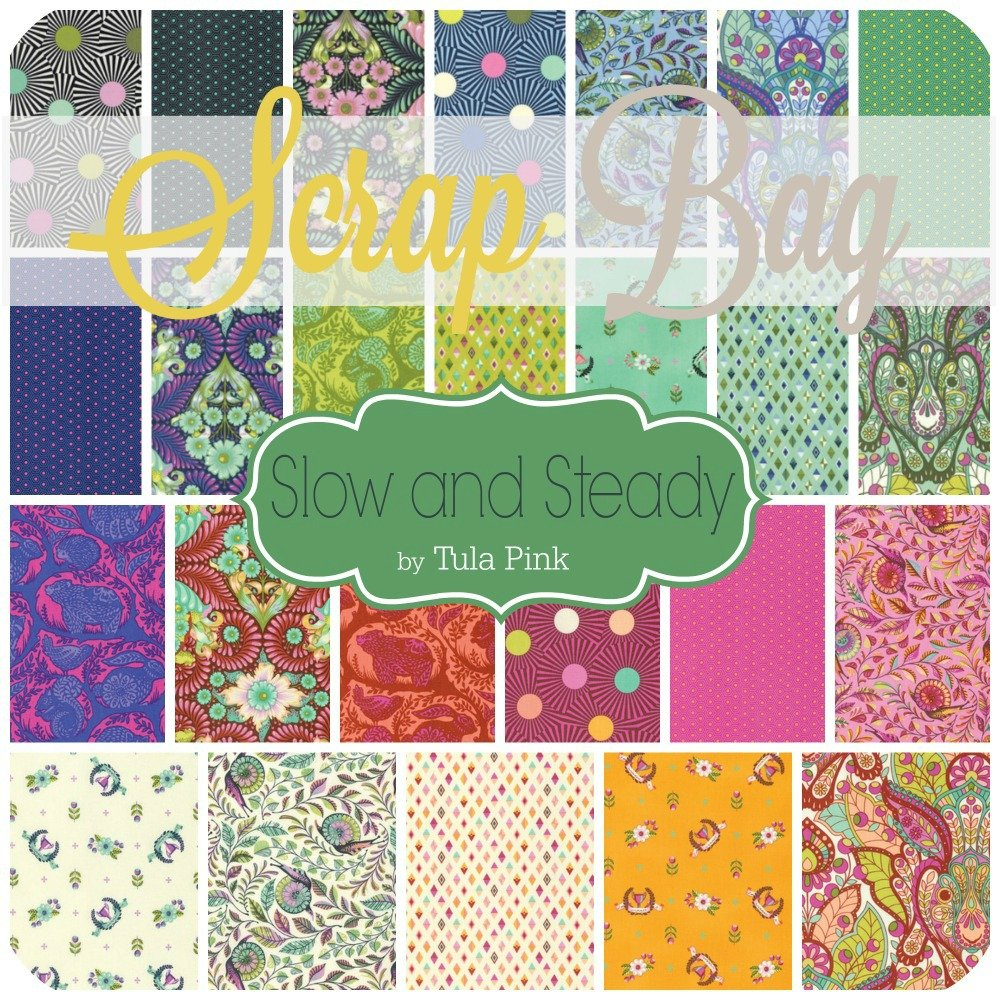 Slow And Steady Scrap Bag (Tp.Ss.Sb) By Tula Pink For Freespirit by Free Spirit
