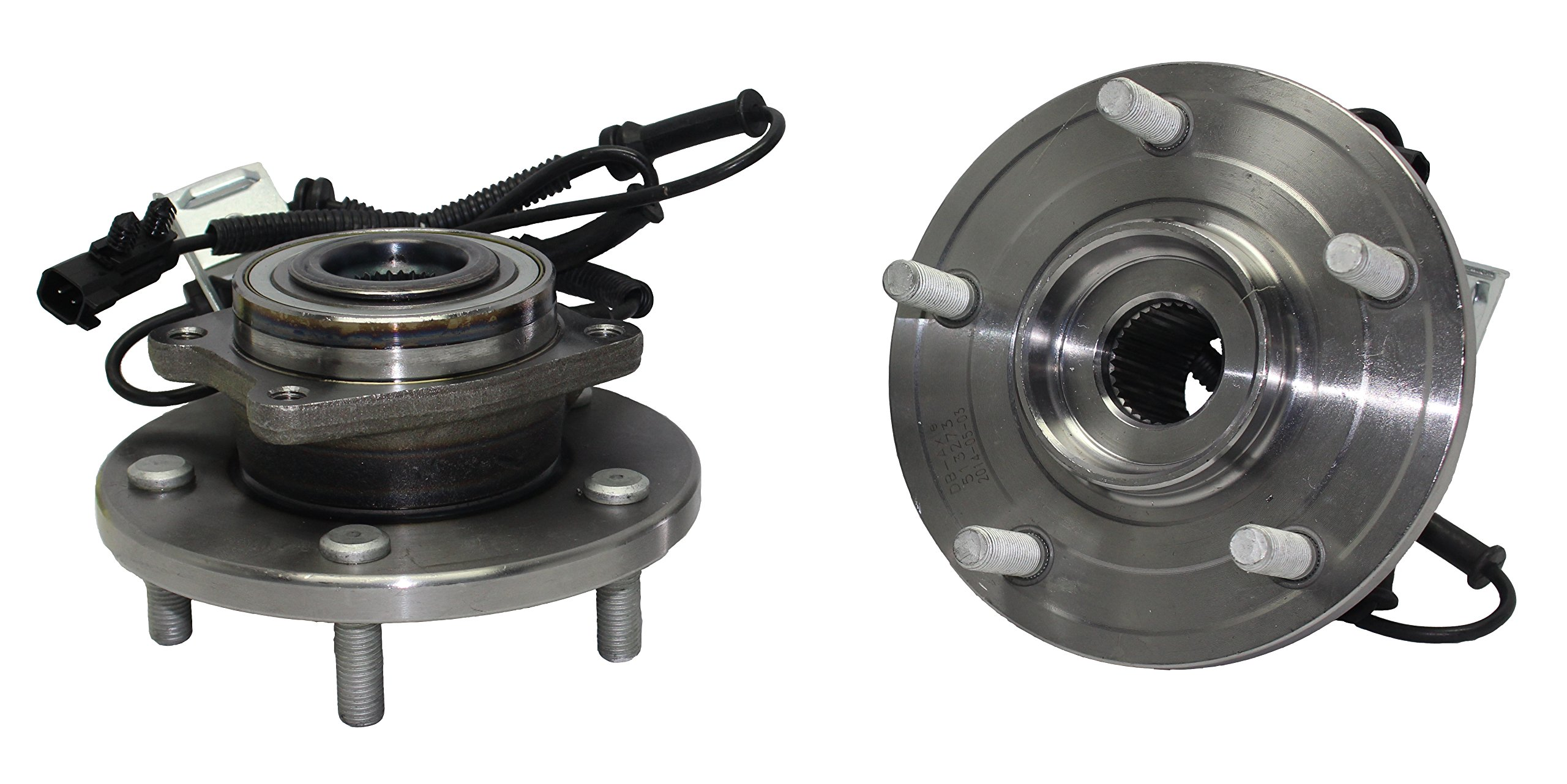 Detroit Axle - New (Both) Front Wheel Hub and Bearing Assembly For - 2008-16 Chrysler Town & Country - [2008-16 Dodge Grand Caravan] - 2012-14 Ram Cargo Van - [2009-12 VW Routan] by Detroit Axle
