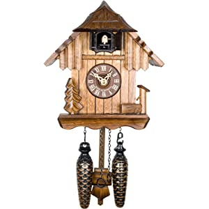 Adolf Herr Quartz Cuckoo Clock - The Log House AH 22 QM
