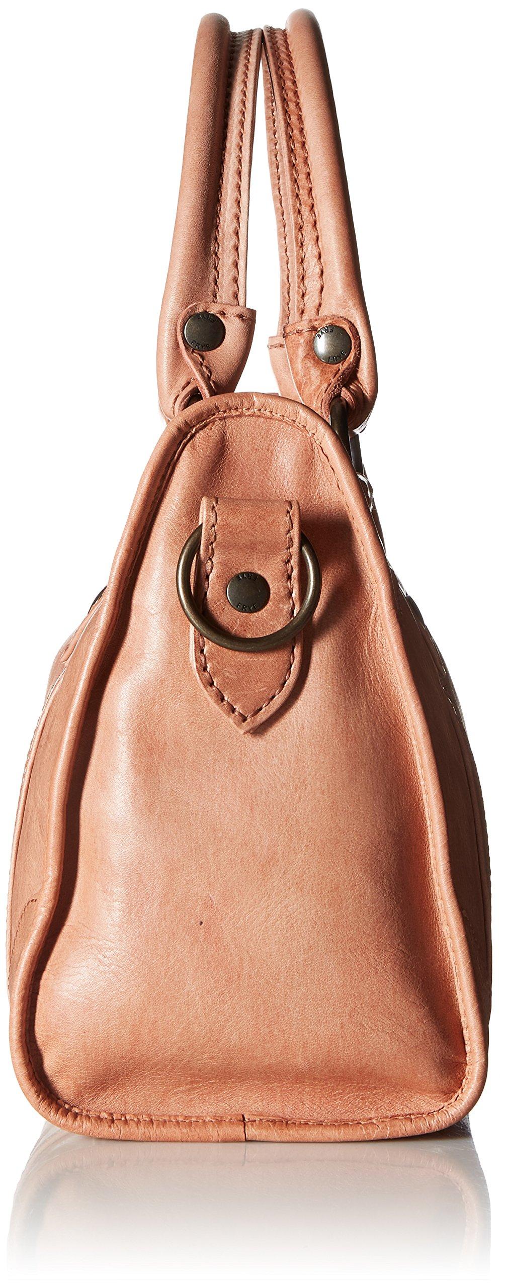 FRYE Melissa Zip Satchel Leather Handbag, dusty rose by FRYE (Image #3)