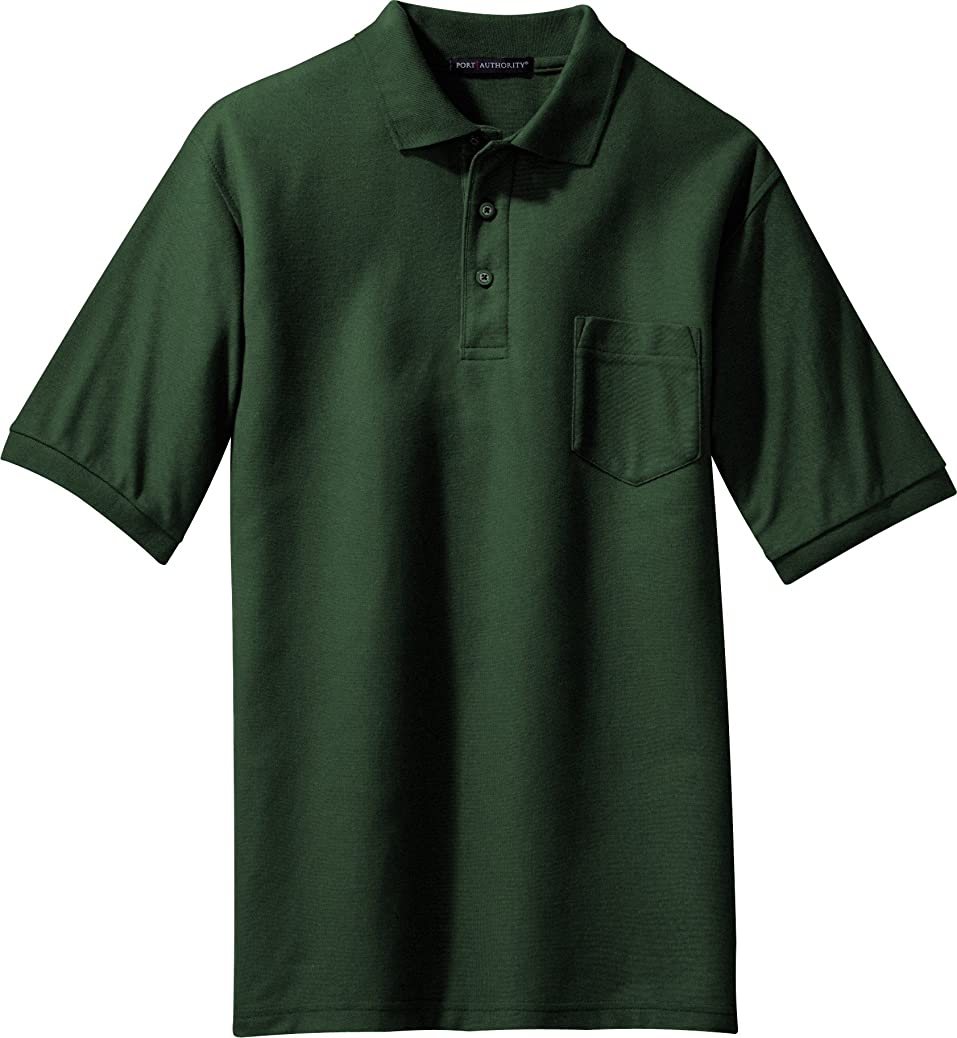 port authority silk touch pique knit sport shirt with pocket k500p