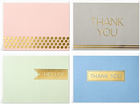 Christmas Thank You Notes ~ Pack of 20 with Envalopes ~ Choice of 4 designs