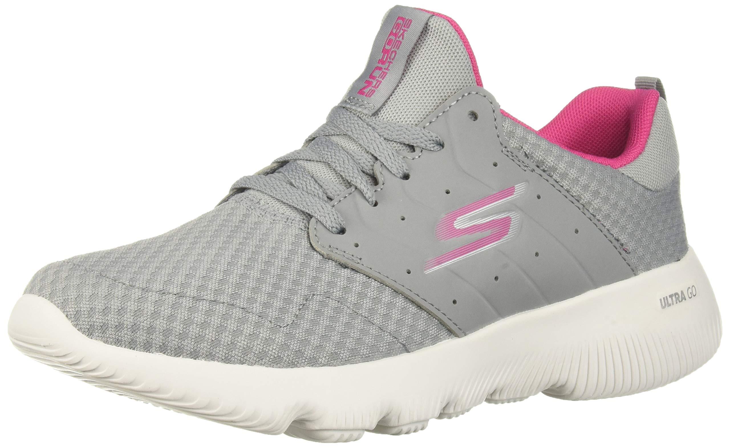 Skechers Women's GO Run FOCUS-15162 Sneaker, Gray/Pink, 5 M US
