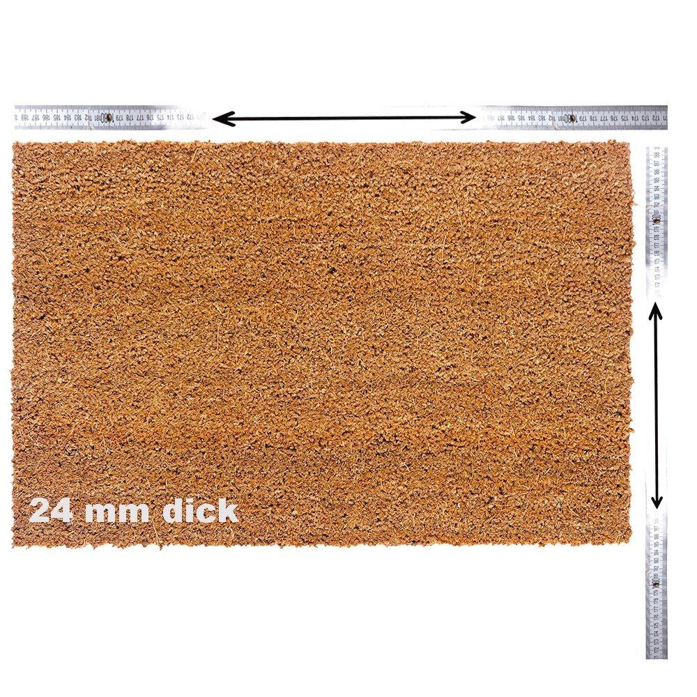 Kokosmatte nach Maß     Kokos Fußmatte mit Zuschnitt auf Maß   Stärke  24mm, Breite  40-120 cm, Länge  60-300 cm   ab 47,13 € (78,55 € m²)   ausgewählt  40-60 cm breit, 60-100 cm lang B07L6L15RG Fumatten 70c83c