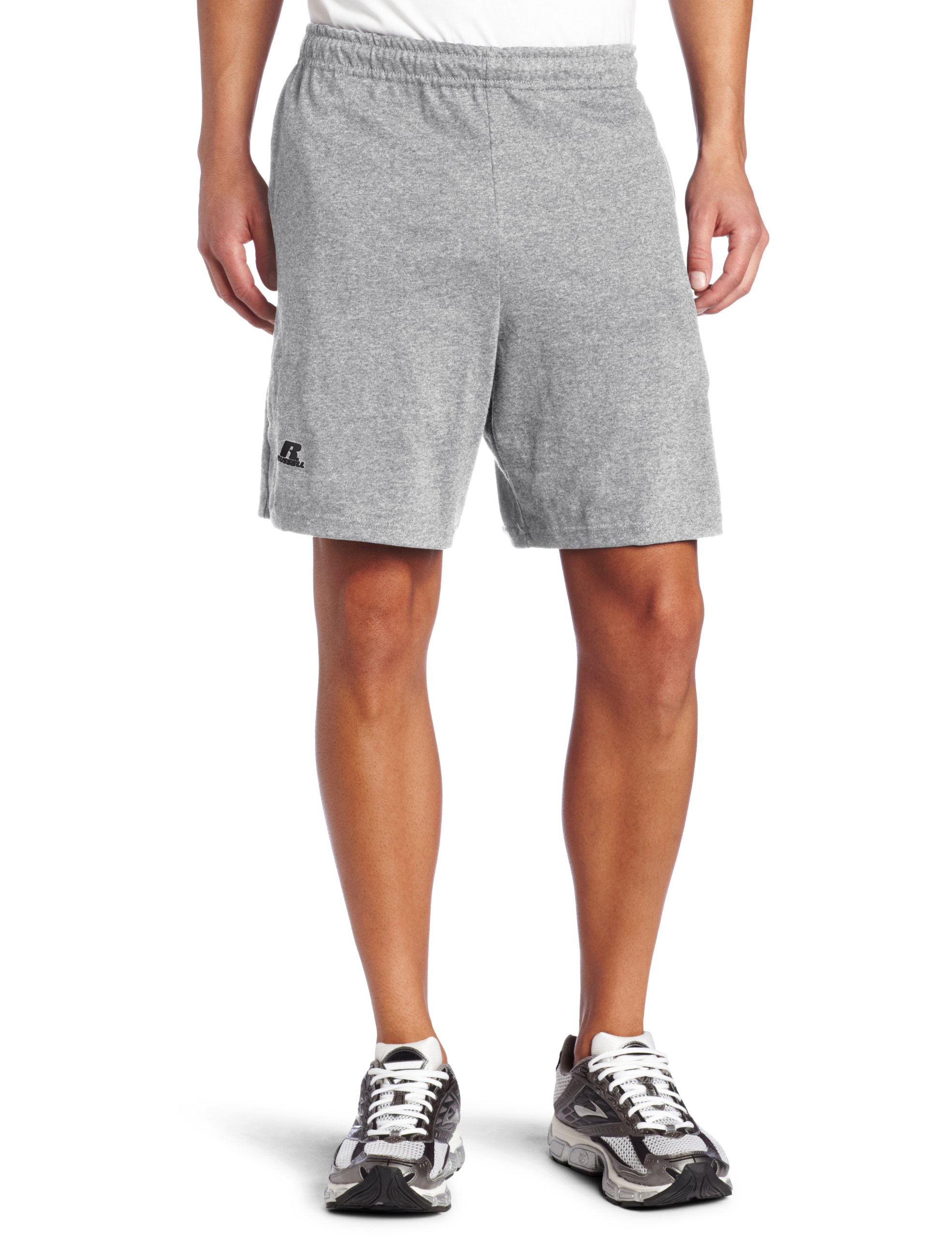 Russell Athletic Men's Cotton Baseline Short with Pockets, Graphite, Large by Russell Athletic