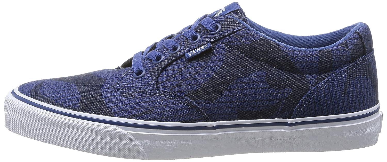 Vans M Winston, Baskets Mode Homme Bleu (Palm Leaf Blu