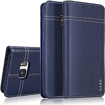 Étui en Cuir véritable pour Samsung Galaxy S7 Edge,Gebei Type.Coque de téléphone Mobile,de Type Pliable et Gaine de Protection de Contact .la Boucle ...