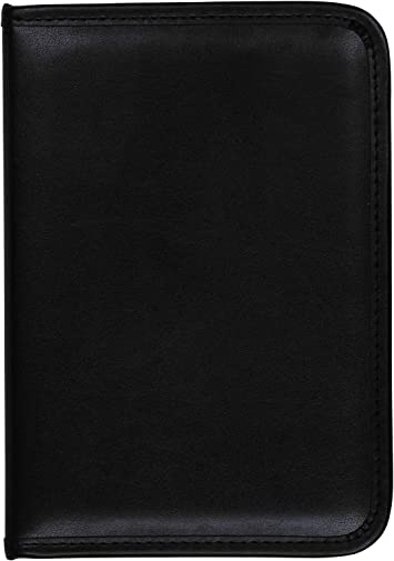 Black Resume Portfolio // Business Portfolio with Secure Zippered Closure 10.1 Inch Tablet Sleeve 8.5 x11 Writing Pad Samsill Professional Padfolio