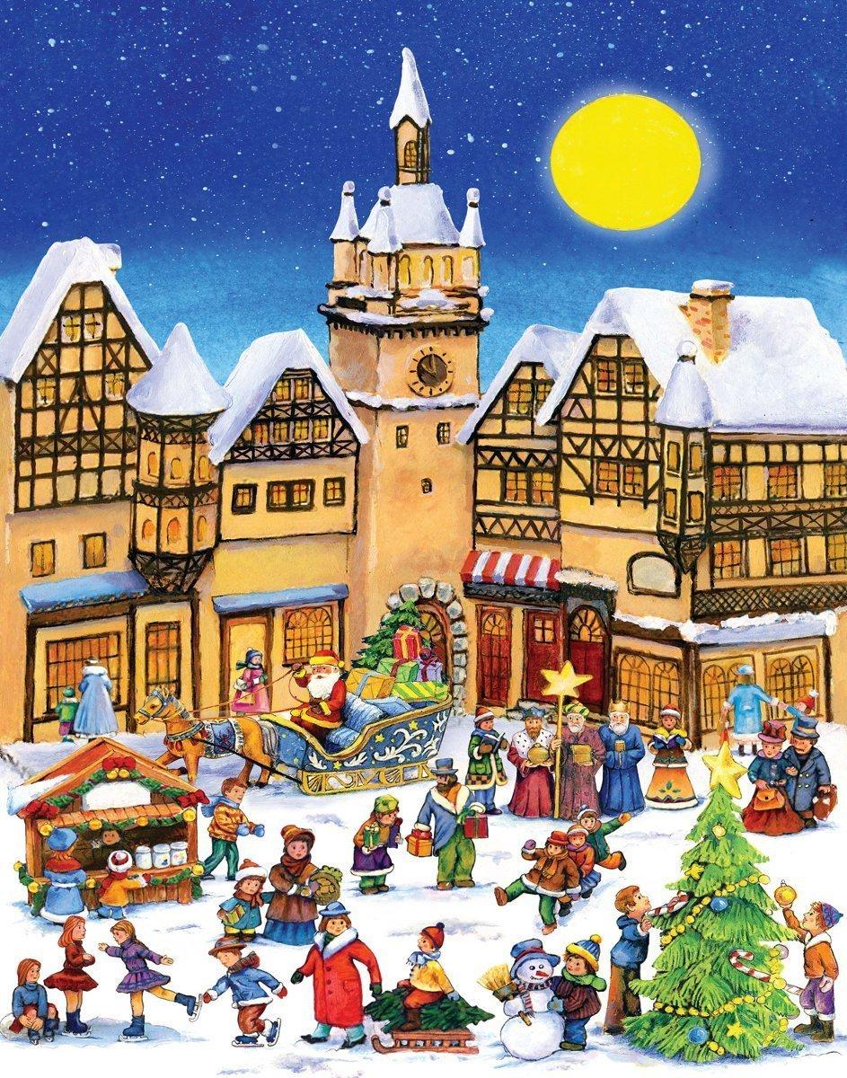 amazoncom christmas village advent calendar toys games