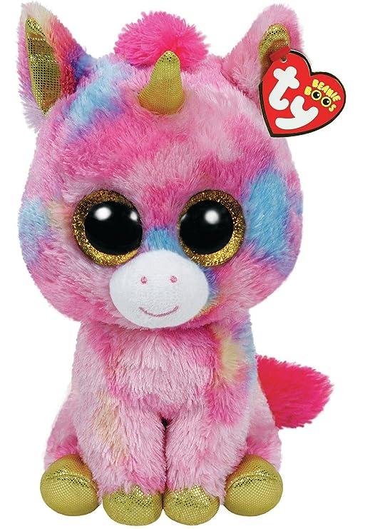 Ty Unicornio de Peluche, 23 cm, Color Rosa (37041TY): Amazon.es: Juguetes y juegos