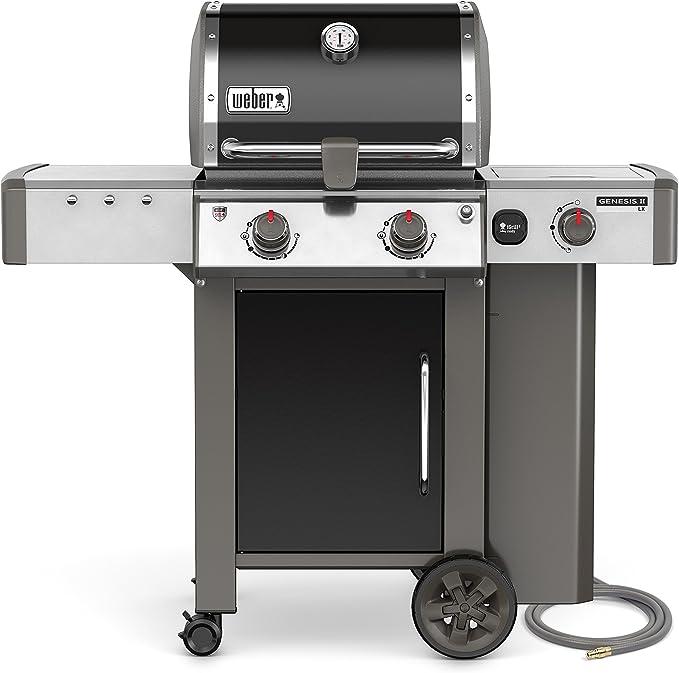 Weber, Black 65014001 Genesis II LX E-240 Natural Gas Grill, Two-Burner