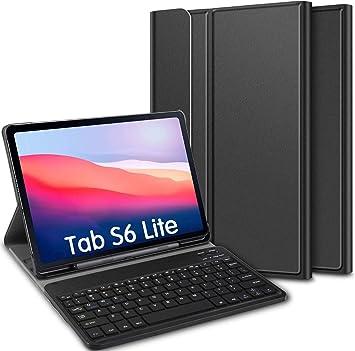 ELTD Teclado Estuche para Samsung Galaxy Tab S6 Lite 10.4,[QWERTY diseño en inglés], Protectora Cover Funda con Desmontable Wireless Teclado para Samsung Galaxy Tab S6 Lite 10.4 Pulgadas, (Negro): Amazon.es: Electrónica