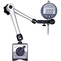 Clockwise Tools DIBR-0105 Electronic Digital Dial Indicator Gage Gauge and Magnetic Base 0-1 Inch/25.4 mm Inch/Metric Conversion Auto Off Featured Measuring Tool