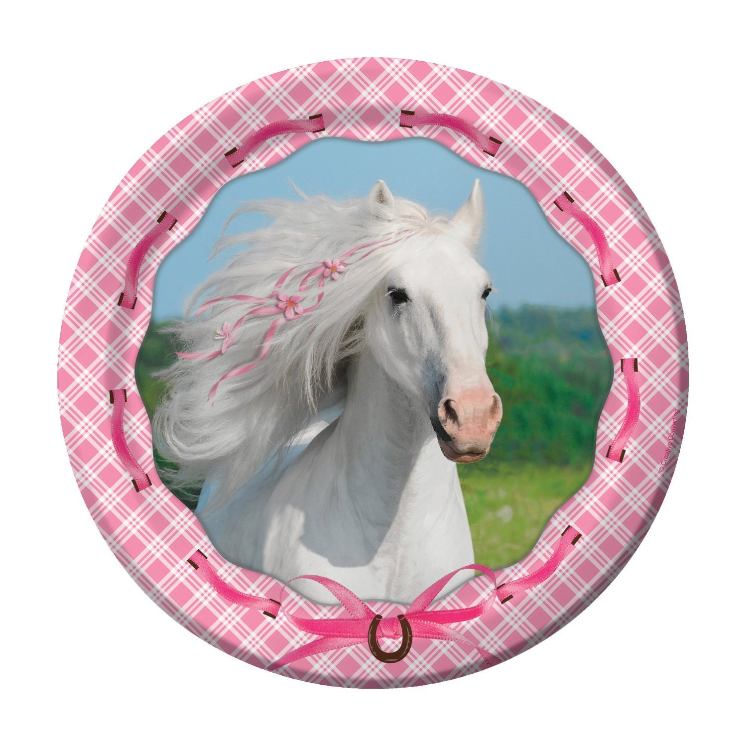 and Table Cover Dessert Plates Beverage Napkins Cups Heart My Horse Pink Birthday Party Supplies Pack for 16 Guests: Stickers