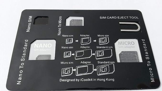 Amazon.com: Funda de Tarjeta de Crédito estilo SIM Card ...