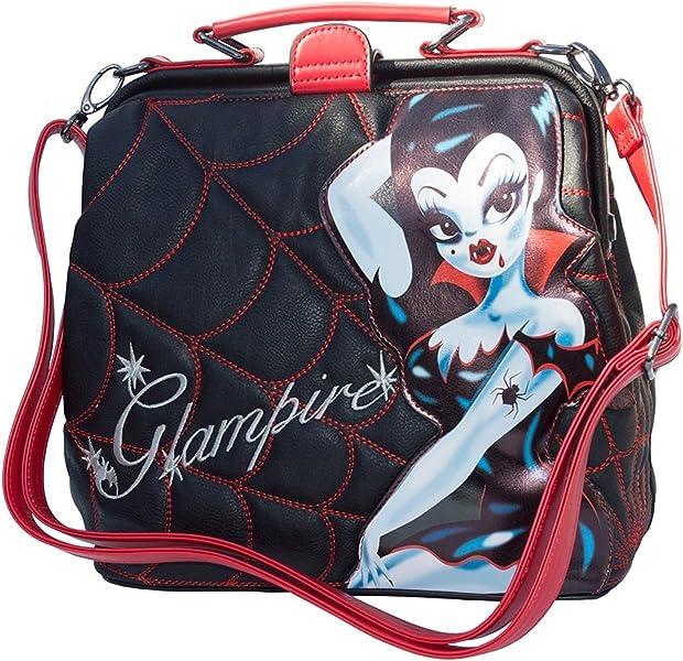 0619f2c0e6963 Kreepsville Glampire Miss Fluff Vampire Spider Web Crossbody Shoulder Bag  Purse: Handbags: Amazon.com