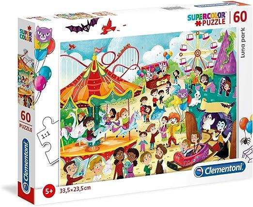 Clementoni 26991 26991-Supercolor Puzzle-Luna Park-60 Pieces, Multi-Coloured: Amazon.co.uk: Toys & Games