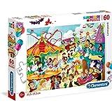 Clementoni 26991 Supercolor Puzzle Luna Park, 60 Parça
