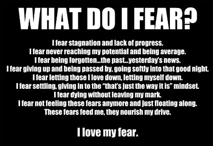 Amazoncom Wesellphotos What Do I Fear Motivational Inspirational