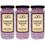 Village Naturals Therapy Aches and Pains Nighttime Relief Mineral Bath Soak, 20oz (3 Pack)