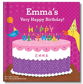 Amazon Happy Birthday Personalized Custom Name Book For Girls