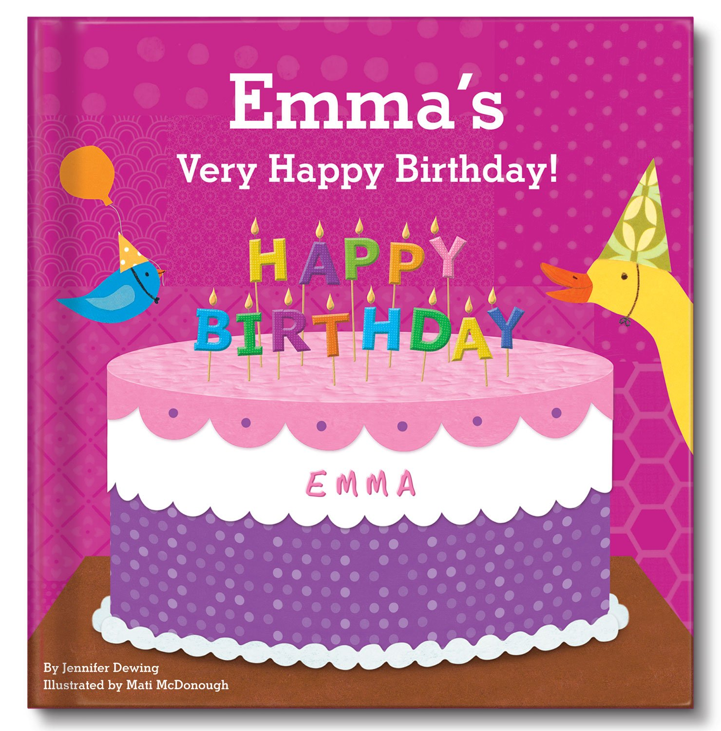 Personalized Custom Birthday Book for 1st First Second Third Girls Birthday Gift by I See Me!