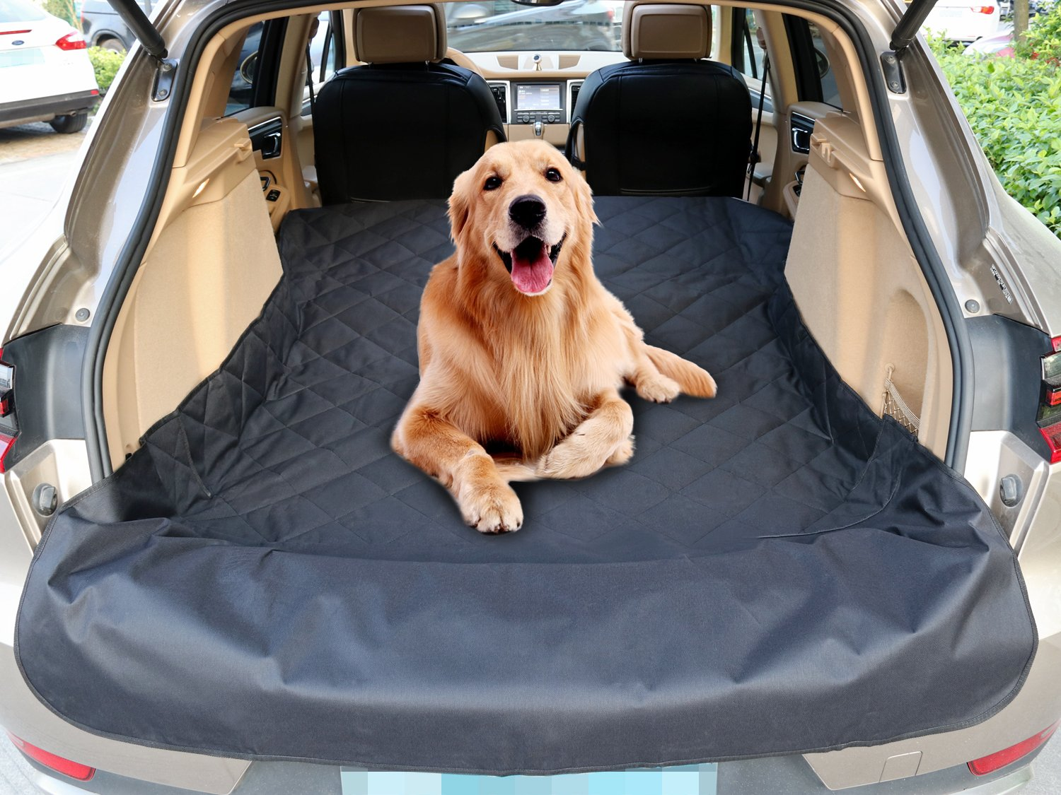 Amazon SUV Cargo Liner Cover For SUVs Cars Waterproof Non Slip Backing Extra Bumper Flap Protector By MixMart Black Pet Supplies