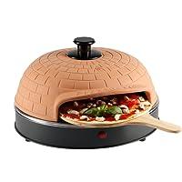 Ultratec Pizzarette Classic XL, Pizzaofen mit Metall-Backplatte - für Pizza bis 22,5 cm Durchmesser