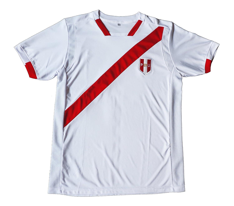 Ama Quella Crafts Peru Men White Soccer Jersey Copa America Centenario