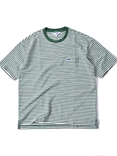 Drop Tail Pocket Tee 112-11-5024: Green Stripe