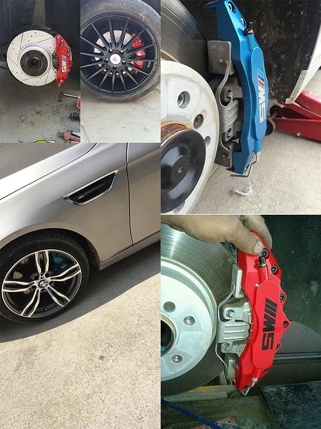 Leadchange 4 X Personalised Blue Color Brake Caliper Cover M Label For Bmw Cars Class 1 3 5 X1 X3 X5 M M3 M5 Brake Styling Decoration Set Multicolor 4 Pcs Amazon De Auto