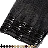 Extension Capelli Veri Clip 8 Fasce Remy Human Hair Full Head XL Set Lisci Lunga 8-24 pollici 20-60cm