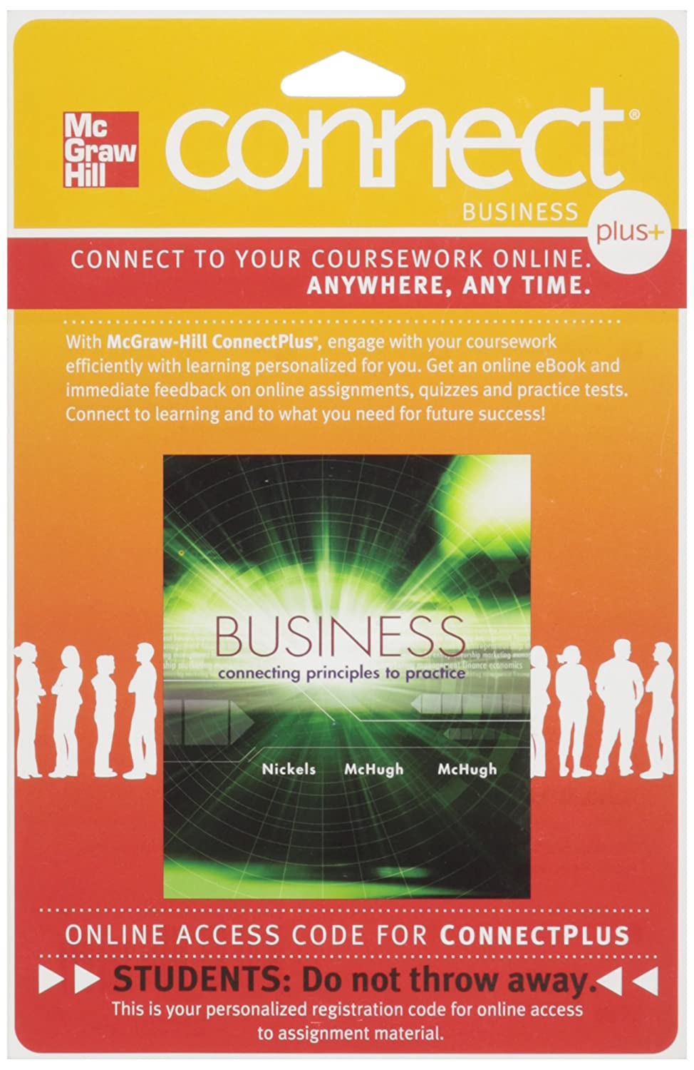 Amazon.com: Connect Plus Business 1 Semester Access Card for Business: Connecting  Principles to Practice: Software