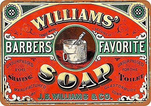 Williams Soap Tin Wall Sign Metal Fender Cartel De Chapa ...
