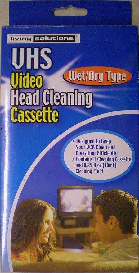 Cabeza de Vídeo VHS Casete de Limpieza (Húmedo/seco)