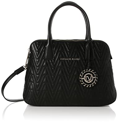 Damen Henkeltasche schwarz schwarz 12.0 (L) x 9.5 (H) x 1.5 (E) cm Versace yZQTB5KuBz