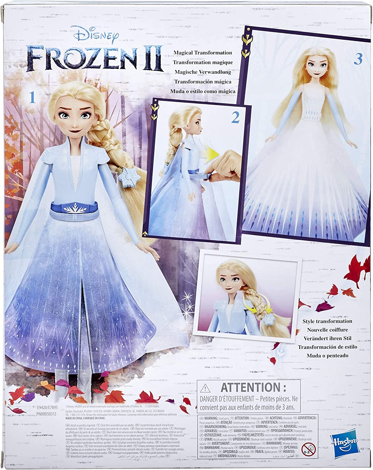 Toy Inspired by Disneys Frozen 2 Disneys Frozen 2 Elsas Transformation Fashion Doll with 2 Outfits and 2 Hair Styles