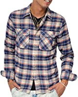 ジョーカーセレクト(JOKER Select) ネルシャツ メンズ 長袖 シャツ チェックシャツ スリム 薄手 チェック柄